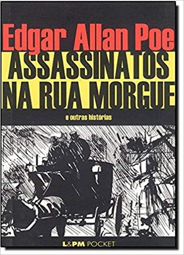Imagem da capa da edição brasileira de Assassinatos na rua Morgue